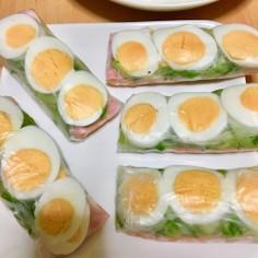 簡単☆朝食にもいける☆卵ベーコン生春巻き