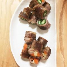 豚肉で巻き野菜♪♪