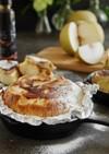 スキレットで梨のアップサイドダウンケーキ