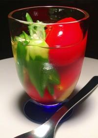 【簡単】夏野菜トマトオクラの冷製おひたし