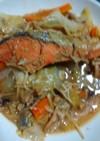 鮭のチャンチャン焼きオーブンとフライパン