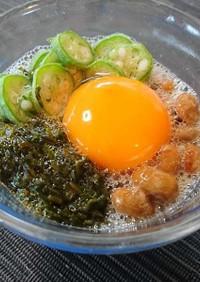 オクラアカモク納豆×SHiBORO