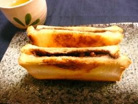 納豆deチョコクリーム風☆ホットサンド