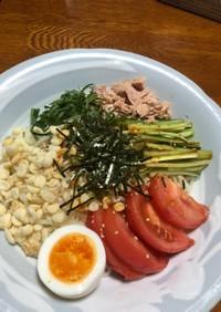 赤味噌だれのピリ辛サラダ冷麺
