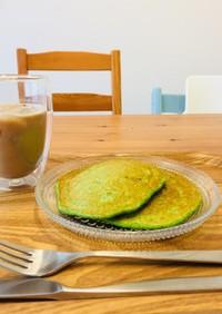 オートミール小松菜パンケーキ