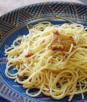 梅とチーズのスパゲティ