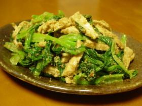 ごまたっぷり♪小松菜と蒸し鶏のナムル