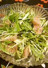 マグロと水菜のサラダ
