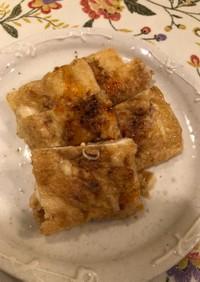 ひき肉のタネが余ったら、油揚げチーズ焼き