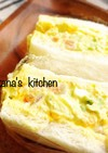 海老☆アボカド☆卵のサンドイッチ♪♪