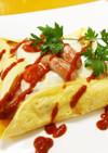 簡単薄焼き卵のガレット風ピザトースト