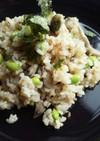 玄米とキノコたっぷりすし飯