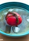 トマトともずく酢の冷製スープ