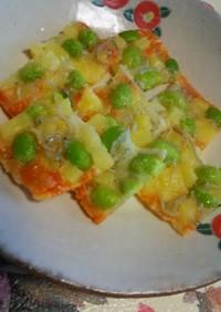 芋と枝豆のチーズ煎餅