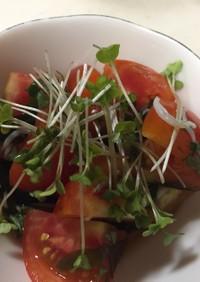 トマトとわかめとしらすの簡単酢の物