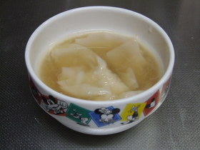 ズボラのワンタンスープ