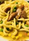 野菜mix&ソーセージのカレー焼きうどん