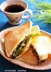 ♡らっきょ卵トーストサンドイッチ