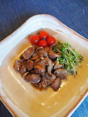 砂肝(砂ずり)のかき醤油ドレッシング炒め