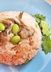 鮭フレークと舞茸のマヨチャーハン