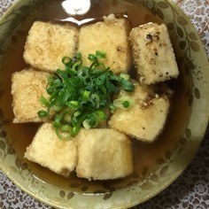 家庭の揚げだし豆腐