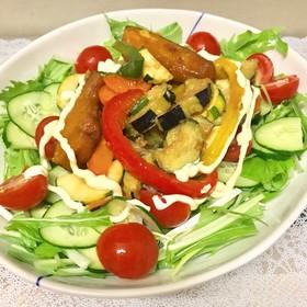 水菜とたっぷり野菜南蛮deサラダうどん♬