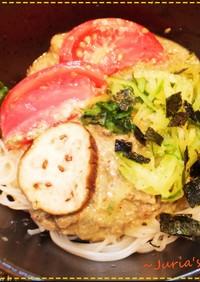 鯖缶で簡単・私の 濃厚冷や汁ぶっかけ麺