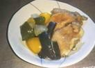 豚肉と野菜の揚げ浸し*