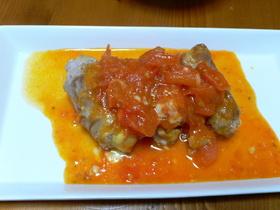 豚肉チーズロール・フレッシュトマト煮