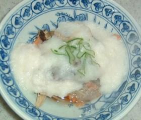 簡単 塩鮭の蒸し物 とろろかけ
