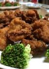 日清唐揚げ粉で鶏モモ肉を唐揚げ