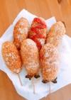 お家で簡単!韓国 チーズドッグ ハットグ