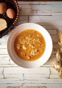 スペインのにんにくスープ☆ソパ・デ・アホ