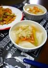 簡単!水餃子と野菜の中華スープ
