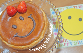 スマイリーチーズケーキ☆