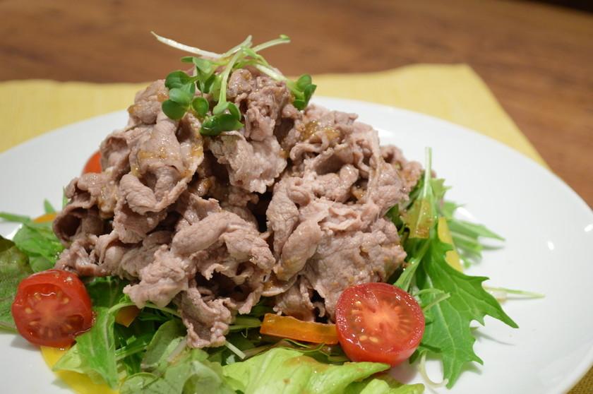 ラム肉の冷しゃぶサラダ