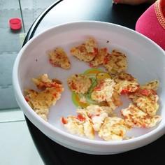 離乳食後期☆パンと豆腐のおやき