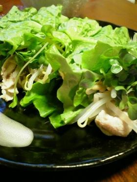 ★☆サンチュで巻き②冷しゃぶサラダ☆★