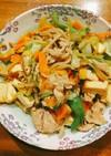 野菜大量消費♡豚肉と厚揚げの味噌炒め☆