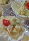 餃子の皮deカップサラダ