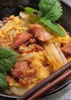 菜園レシピ!受験生の夜食に焼鳥缶で親子丼