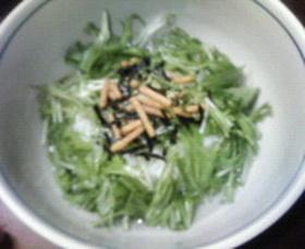 ☆水菜のシャキシャキ茶漬け。☆