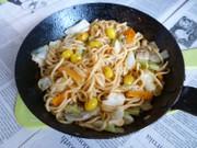 銀杏きのこ野菜MIXでマルちゃん焼きそばの写真