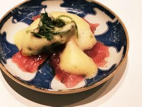 ☆彡マグロのお刺身に黄身ソース