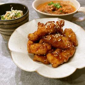 鶏胸肉の甘辛揚げ ☆☆☆
