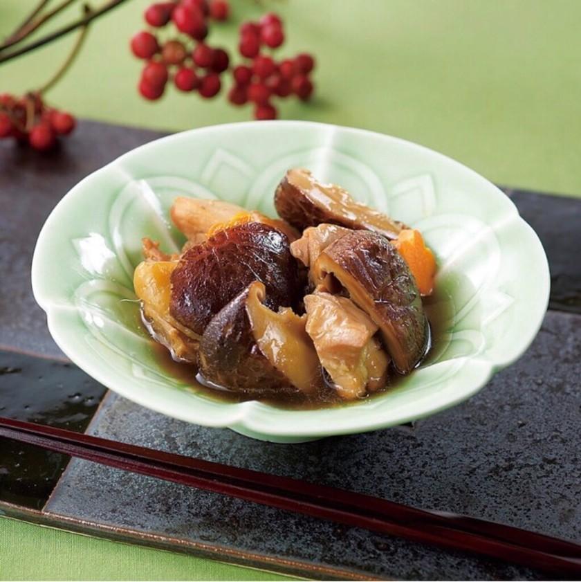 椎茸と鶏肉のストック煮物