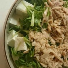豆腐と豆苗の簡単ツナサラダ