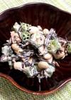 水煮大豆とひじきの梅マヨサラダ