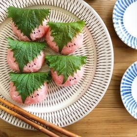 ひなまつりに✿桜餅風寿司
