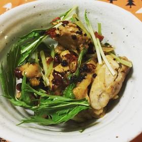 鶏もも肉の浜納豆ガリバタ焼き